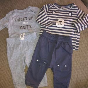 2 matching outfits carters 3 mos